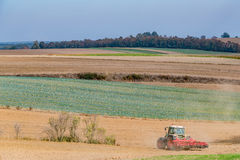 Autumn field works Royalty Free Stock Image