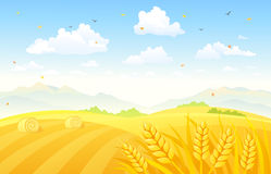 Autumn fields background Royalty Free Stock Image