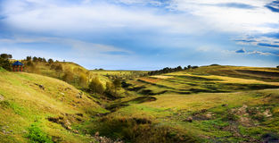 Autumn fields. Shot in i Zhangbei grassland, the city of Zhangjiakou , China.Zhangjiakou has a charming natural scenery, on 2022, together with Beijing hosted Royalty Free Stock Photography
