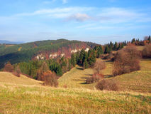 Autumn fields at Tupa Skala, Slovakia Stock Photo