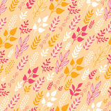Autumn Filed In the Wind Seamless Pattern Stock Image