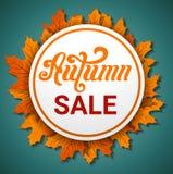 Autumn final sale concept banner, cartoon style royalty free illustration