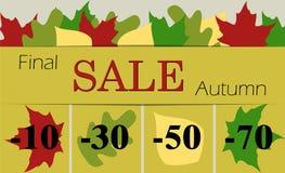 Autumn final sale  illustration . Flat. Autumn final sale  illustration  Flat Stock Image
