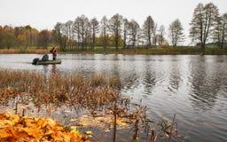 Autumn fishing. Stock Images