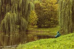 Autumn fishing. Royalty Free Stock Photography