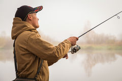 Autumn fishing Royalty Free Stock Image