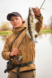 Autumn fishing Royalty Free Stock Photos