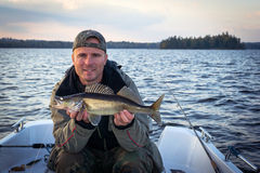 Autumn fishing walleye Royalty Free Stock Photography