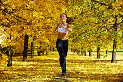Autumn fitness Stock Photography