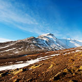 Autumn fjord landscape, captured in Iceland Royalty Free Stock Images