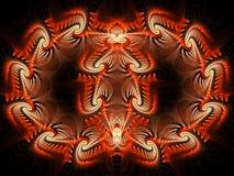 Autumn Flame Fractal sconcertante simmetrico illustrazione di stock