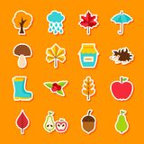 Autumn Flat Stickers stock de ilustración