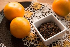 Autumn Flavors and Spices in Rustic still life stock images