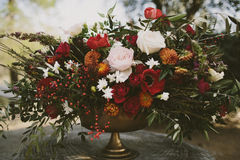 Autumn floral arrangement Royalty Free Stock Photos