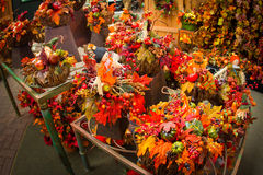 Autumn Floral Arrangements Royalty Free Stock Image