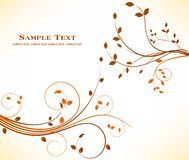 Autumn floral background design - art stock decoration beauty stock illustration