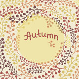 Autumn floral background. For design wrapping paper, scrapbooking, textiles, sites Stock Illustration
