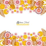 Autumn floral background for web or print. Illustration of Autumn floral background for web or print design Stock Photography