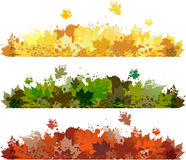 Autumn floral banners Stock Image