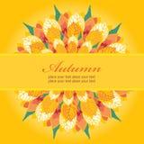 Autumn Floral Card Template Royalty Free Stock Photos