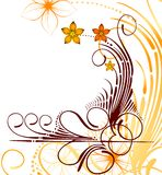 Autumn floral design background. Vector Royalty Free Stock Photo