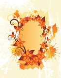 Autumn floral frame Royalty Free Stock Photography