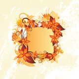 Autumn floral frame Stock Photography