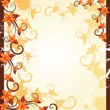 Autumn floral frame Royalty Free Stock Image