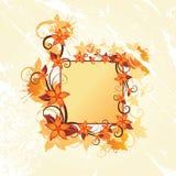 Autumn Floral Frame Stock Photo