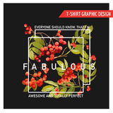 Autumn Floral Graphic Design - pour le T-shirt, la mode, imprime Photo libre de droits