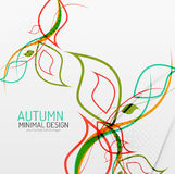 Autumn floral minimal background Stock Image