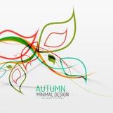 Autumn floral minimal background Stock Photo