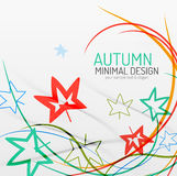 Autumn floral minimal background Stock Photography