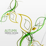 Autumn floral minimal background Royalty Free Stock Image