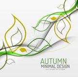 Autumn floral minimal background Stock Photos