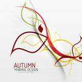 Autumn floral minimal background Royalty Free Stock Photo