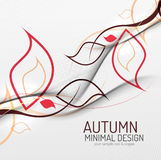 Autumn floral minimal background Royalty Free Stock Photos