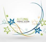 Autumn floral minimal background Royalty Free Stock Photo
