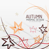 Autumn floral minimal background Royalty Free Stock Photography