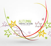 Autumn floral minimal background Stock Images