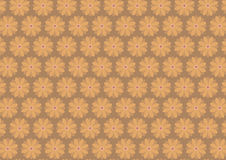 Autumn floral pattern in ochre color shades. Autumn floral pattern in ochre dark yellow color shades. Ochre background royalty free illustration