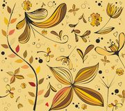 Autumn floral patterns Royalty Free Stock Photography