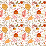 Autumn floral seamless background Stock Photography