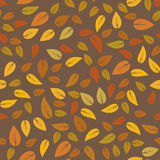 Autumn Floral Seamless Different Leaves-Patroon Royalty-vrije Stock Afbeelding