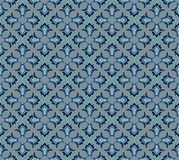 Grey ornamental floral seamless pattern Stock Photos
