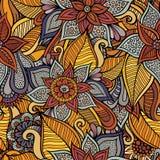 Autumn floral seamless pattern Stock Photos
