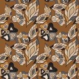 Autumn Floral seamless Pattern Royalty Free Stock Photo