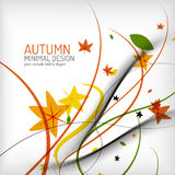 Autumn floral wave on white background Royalty Free Stock Images
