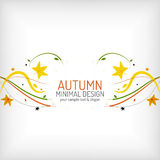 Autumn floral wave on white background. Minimalistic design. Nature background, environmental swirl template concept stock illustration