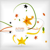 Autumn floral wave on white background Stock Photography